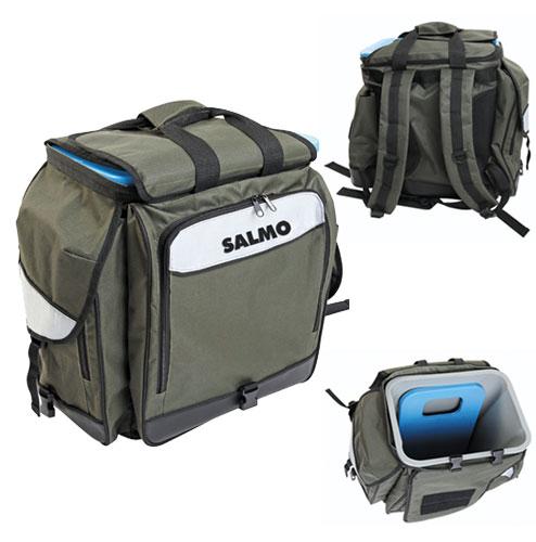 Ящик-рюкзак рыболовный зимний Salmo 61 (из трёх частей) 30х38х38см