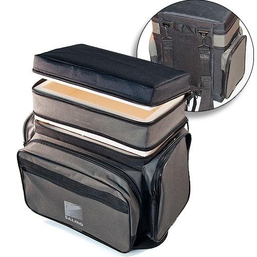 Ящик-сумка-рюкзак рыболовный зимний Salmo пенопластовый 2-х ярусный B-2LUX