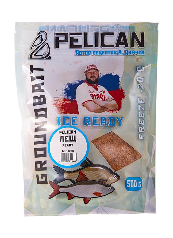 Прикормка зим. готовая Pelican ЛЕЩ 0,5кг