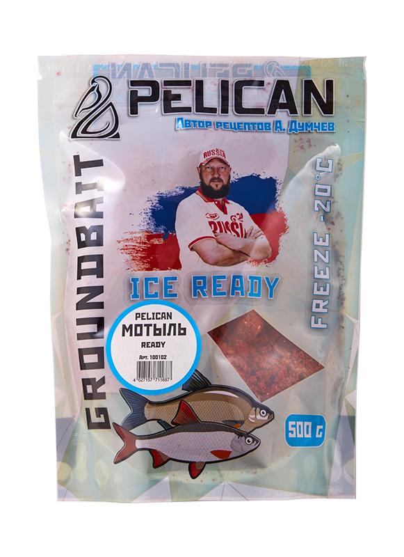 Прикормка зим. готовая Pelican МОТЫЛЬ 0,5кг