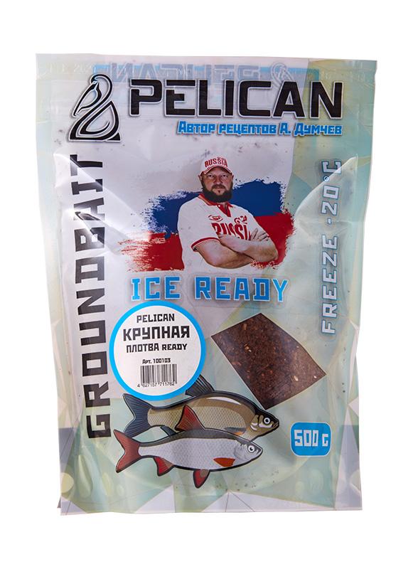 Прикормка зим. готовая Pelican ПЛОТВА КРУПНАЯ 0,5кг