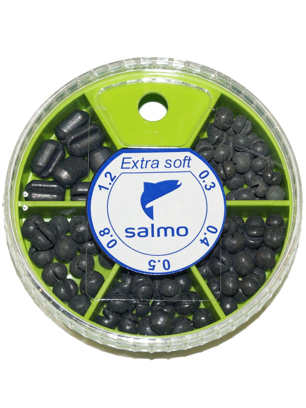 Грузила Salmo EXTRA SOFT комби малый 5 секц. 0,3-1,2г 060г набор 1