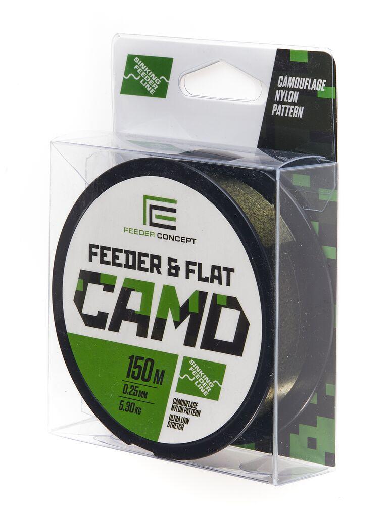 Леска монофильная Feeder Concept FEEDER&FLAT Camo 150/025