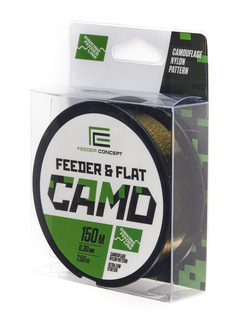 Леска монофильная Feeder Concept FEEDER&FLAT Camo 150/030