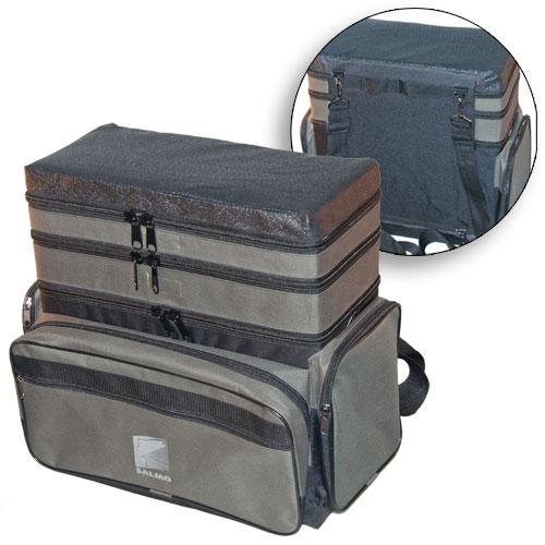 Ящик-рюкзак рыболовный зимний Salmo пенопластовый 3-х ярусный H-3LUX