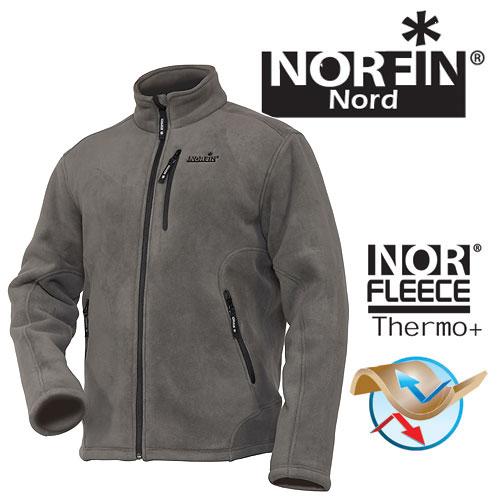 Джемпер флисовый Norfin NORTH GRAY р.XL