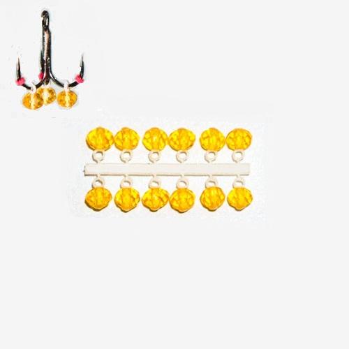 Подвес-серьга МИКРО-БИС КРИСТАЛЛ желт. прозрачн. 4.2мм К 12шт.