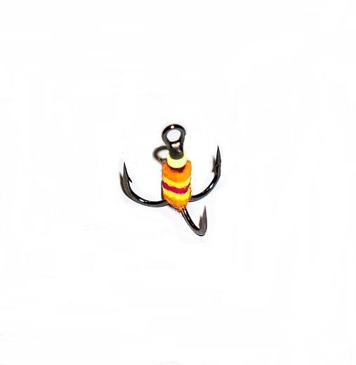 Крючок-тройник для приманок с аккум. запаха разм.010