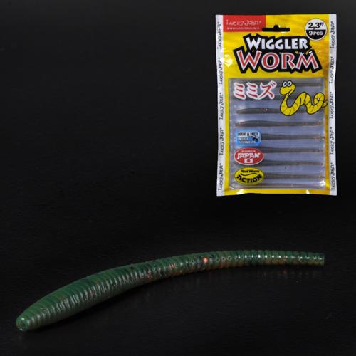 Слаги съедобные искусственные LJ Pro Series WIGGLER WORM 05.84/PA16 9шт.