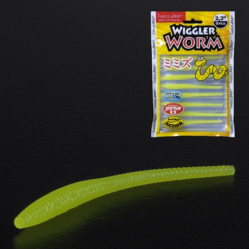 Слаги съедобные искусственные LJ Pro Series WIGGLER WORM 05.84/101 9шт.