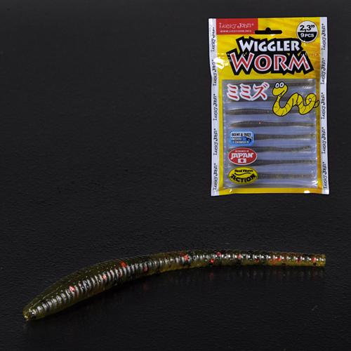 Слаги съедобные искусственные LJ Pro Series WIGGLER WORM 05.84/PA03 9шт.